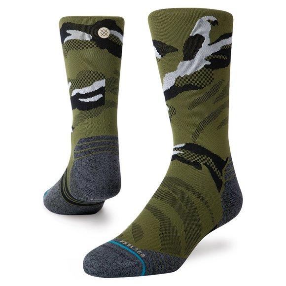 Stance Polycam Crew Running Socks Camo Medium 6-9